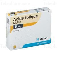 ACIDE FOLIQUE 5MG MYLAN CPR 20