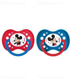 Sucettes anatomiques en silicone collection mickey & minnie 18 mois et plus x2