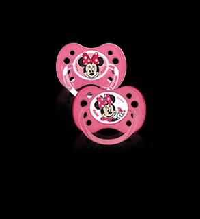 Sucettes anatomiques en silicone collection mickey & minnie 6 mois et plus x2