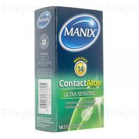 PRESERV MANIX CONTACT ALOE 14