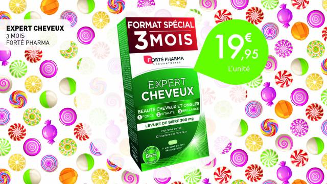19,95€ l'expert cheveux 3 mois de Forte Pharma